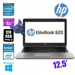 HP ELITEBOOK 820 G1 I5 4310U 4GO 128SSD- GRADE A
