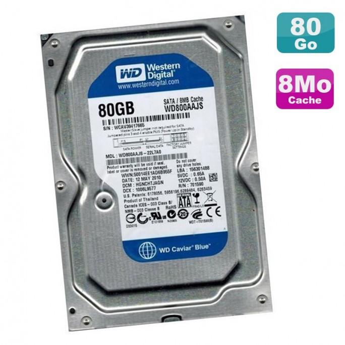"""HDD 80 Go 3.5"""" WESTERN DIGITAL"""