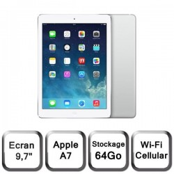 APPLE IPAD AIR 64GO WIFI + 3G ARGENT GRADE A